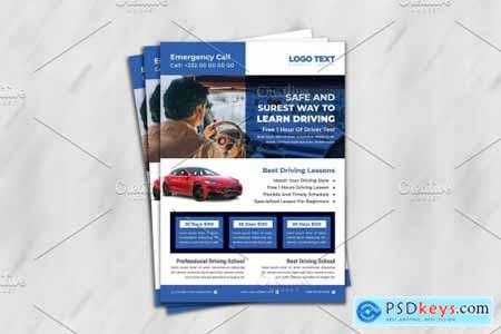 Driving School Flyer Template Design 5457665