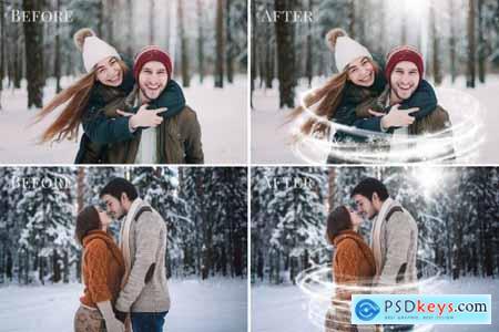 Magical Winter photo overlays 5460759