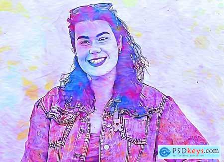 Oil Portrait Photoshop Action 5413622
