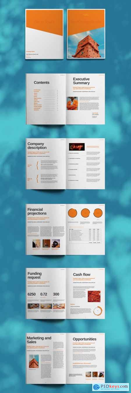 Orange Brochure Layout 394724826