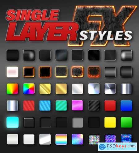 Single Layer Fx Styles 393401989