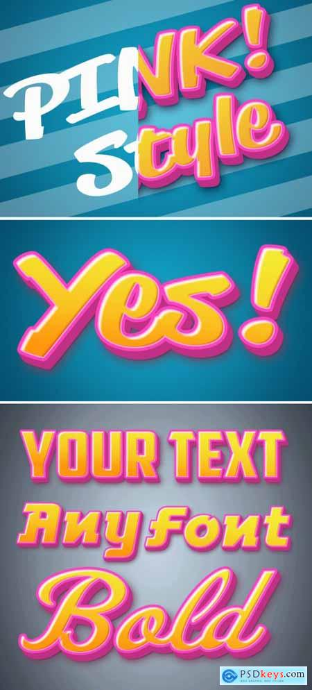 Pink Pop Text Style Mockup 393647635