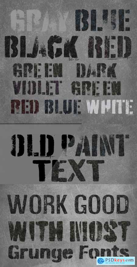Old Paint Text Effect Mockup 393648208