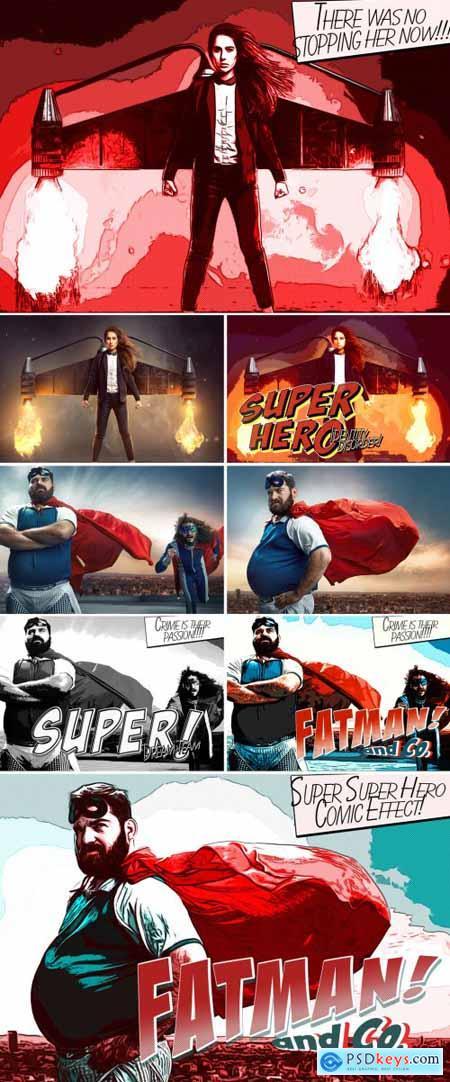 Super Hero Comic Book Effect 393402333