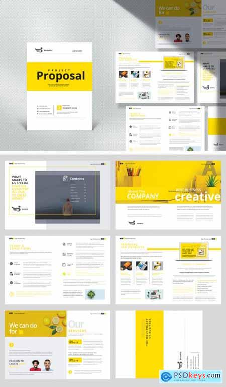 Project Proposal Layout with Yellow Accents 392967217