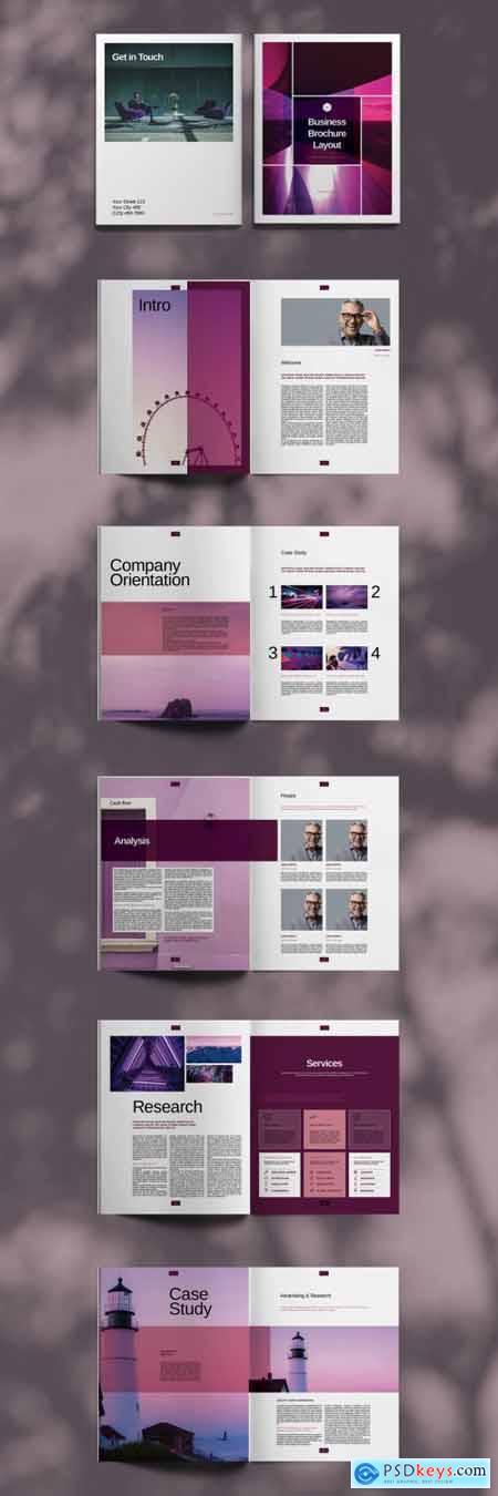 Purple Brochure Layout 394724871