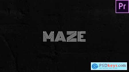 Maze Animated Typeface for Premiere 29599001