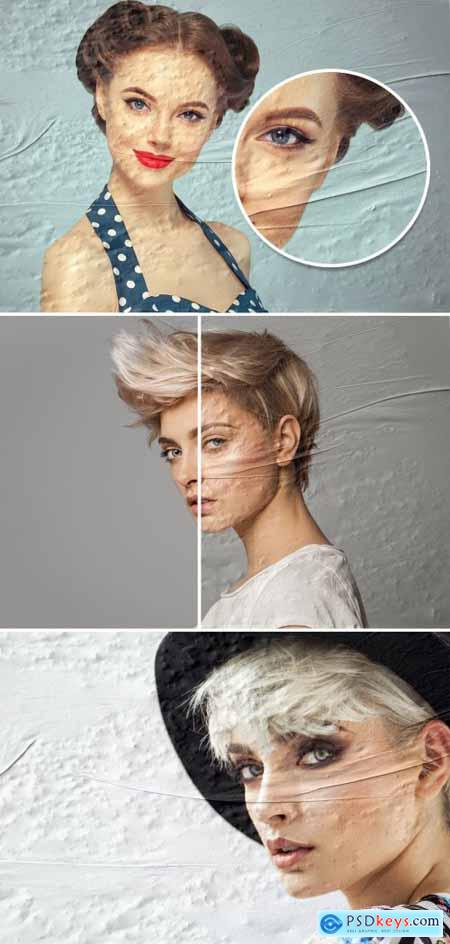 Old Poster Photo Effect Mockup 395388088
