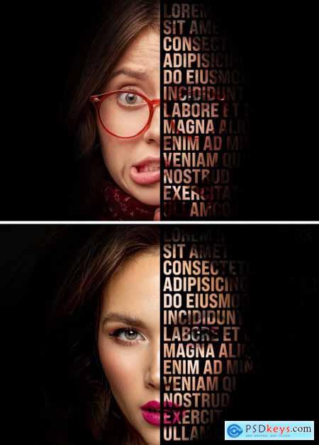 Text Masking Photo Effect Mockup 395389168