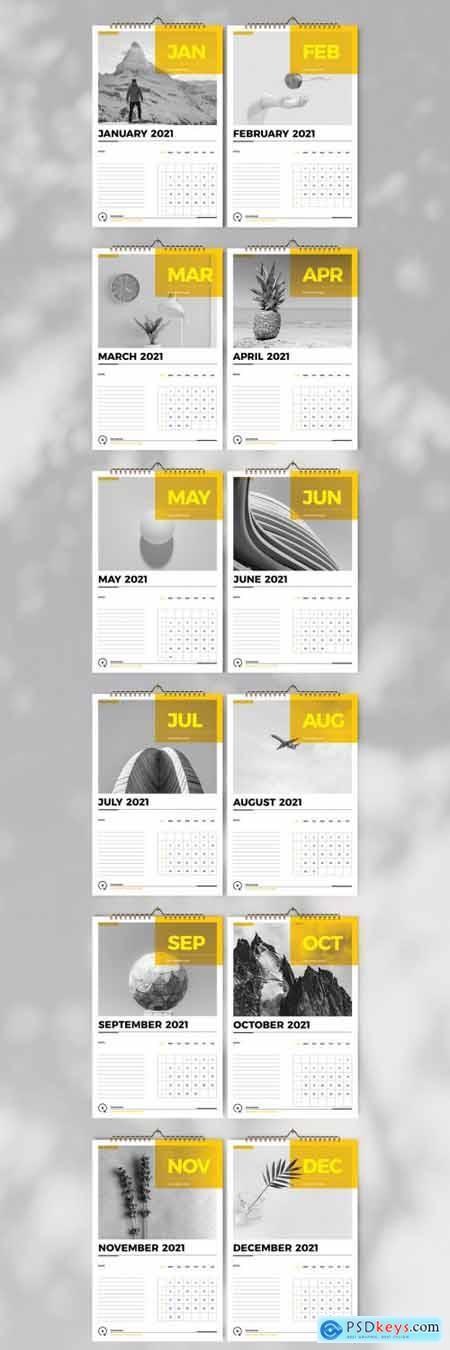 Business Wall Calendar 2021 Layout 397072849