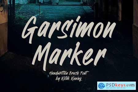 Garsimon Marker - Brush Font