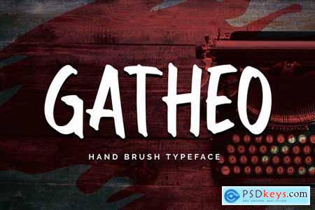 Gatheo - Hand Brush Typeface