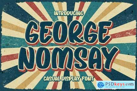 George Nomsay - Retro Font