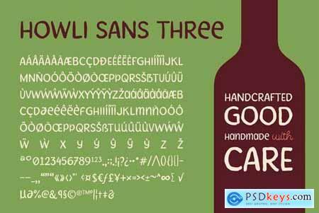 Howli Sans Three & Fun Script
