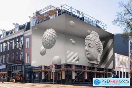 4x Billboard Construction Mockups 5635787