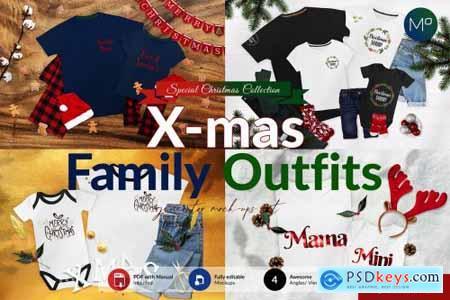 Christmas Family T-shirts Mock-ups 5617062