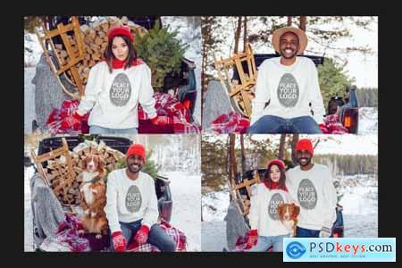 Christmas Sweatshirt Mock-Up Set 5632102