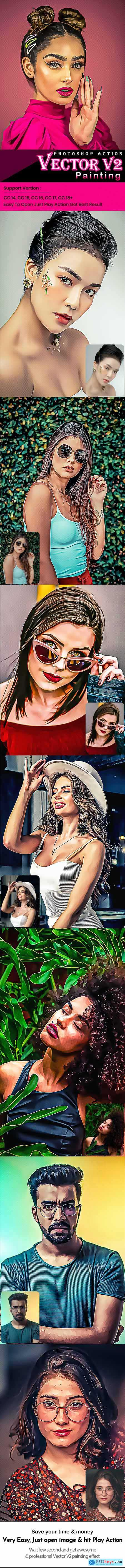 Vector V2 Painting Photoshop Action 29150638