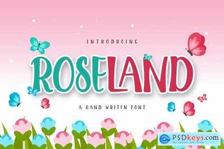 ROSELAND Display font
