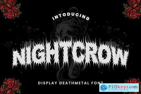 NightCrow - Deathmetal Font