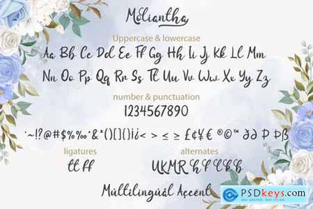 Moliantha - Script Calligraphy Font