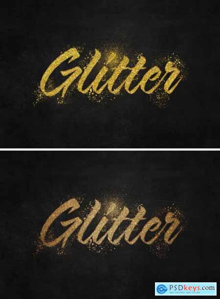 Glitter Gold Text Effect Mockup 396861003