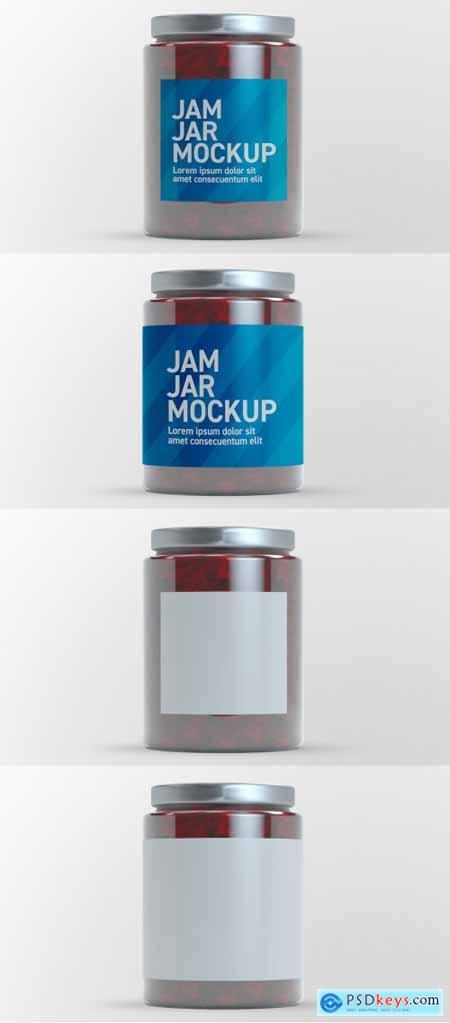 Jam Glass Jar Mockup 398328891