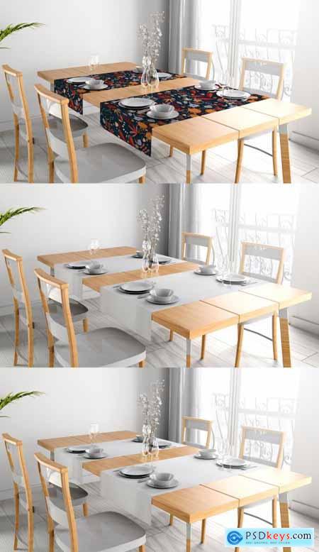 Tablecloth Mockup Decorating Elegant Ready Made Table 398329213