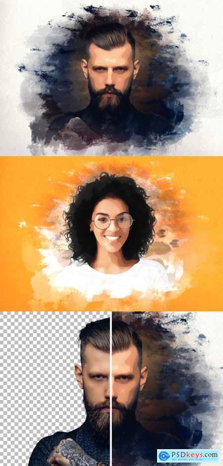 Portrait Oil Paint Effect 396646111