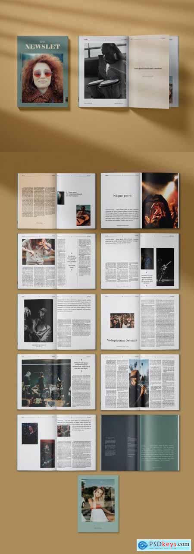 Modern Music Magazine Layout 396402588