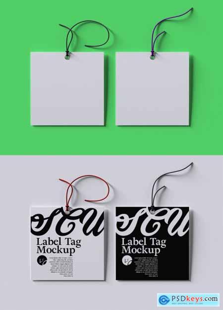 Photorealistic Clothing Hang Tag Mockup Layout