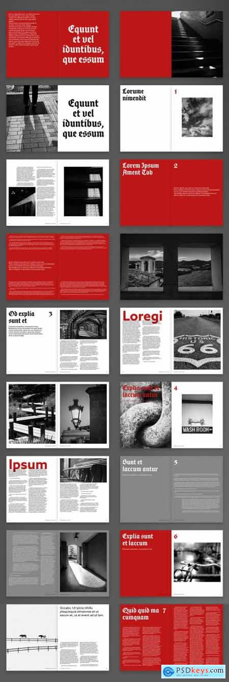 Tattoo-Inspired Brochure Layout 395376498