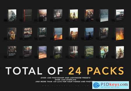 K1 Production - THE WHOLE SHOP BUNDLE 24 PACKS OF LIGHTROOM PRESETS, LUTS AND OVERLAYS
