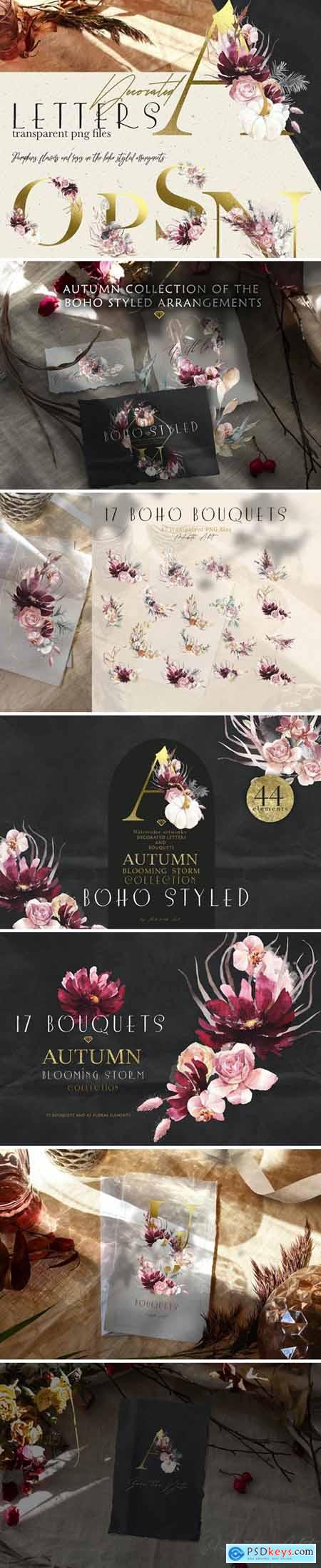 The autumn blooming storm Bouquets and 5511466