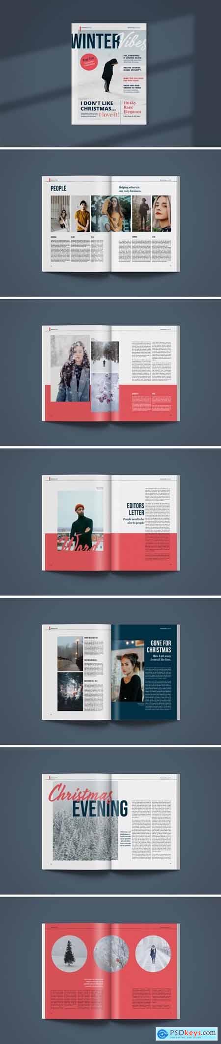 Magazine Template - Winter Vibes