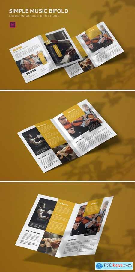 Simple Music - Bifold Brochure
