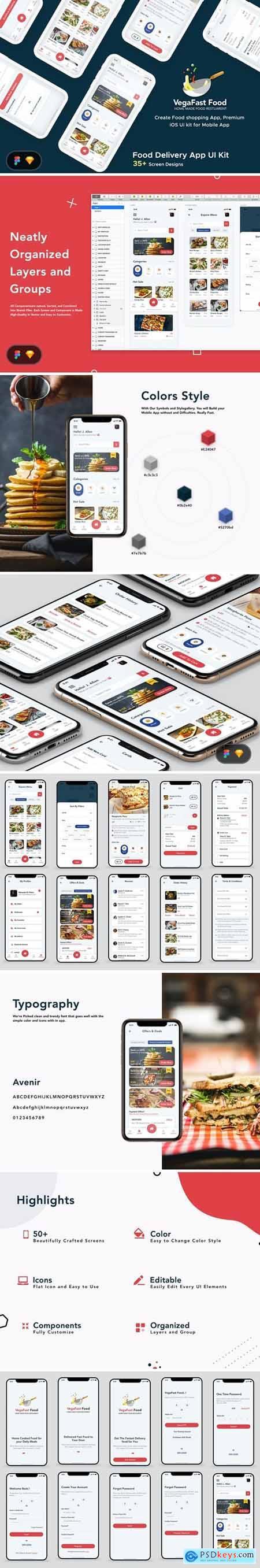 Food Order Delivery Mobile App UI