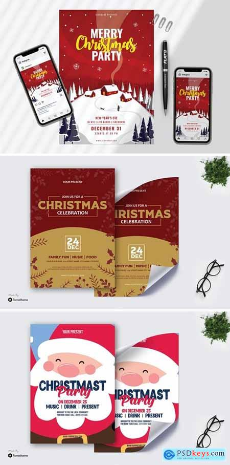 Merry Christmas Flyer & Banner Design