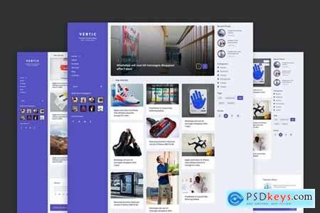 Vertic - Modern Blog PSD Template