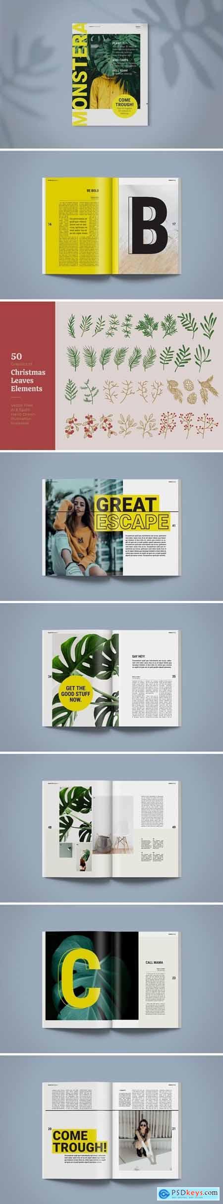 Magazine Template - Monstera