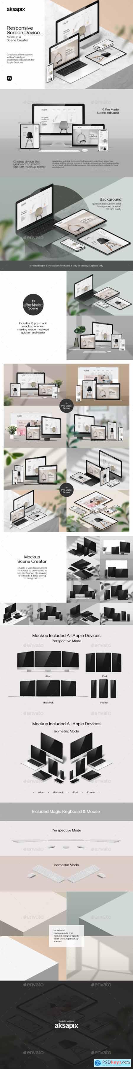 Responsive Screen Device - Mockup Scene Creator 28497192
