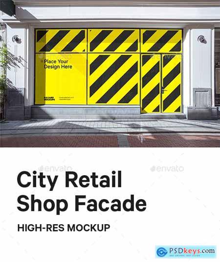 City Retail Shop Facade Mockup 29622493