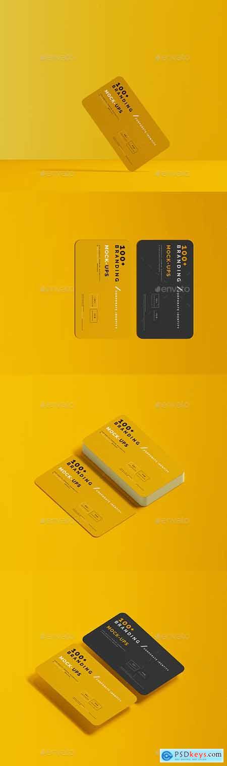 Rounded Corner Business Card Mockups 29605683