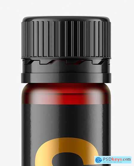 25ml Red Frosted Sport Nutrition Bottle Mockup 70865