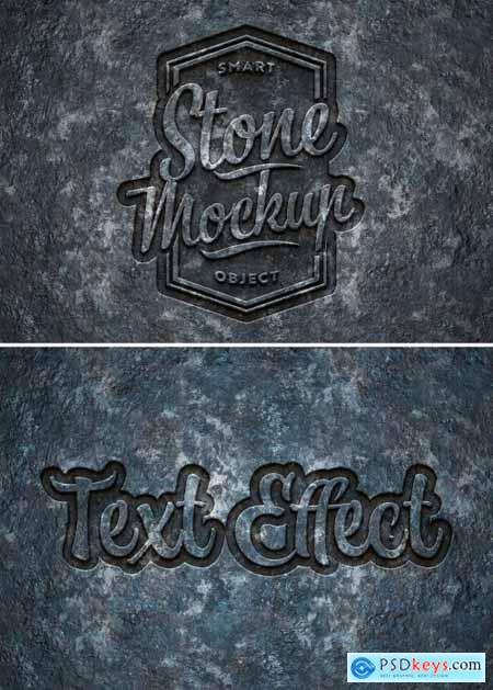 Engraved Stone Text Effect Mockup