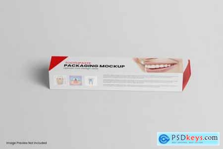 Box packaging toothpaste mockup