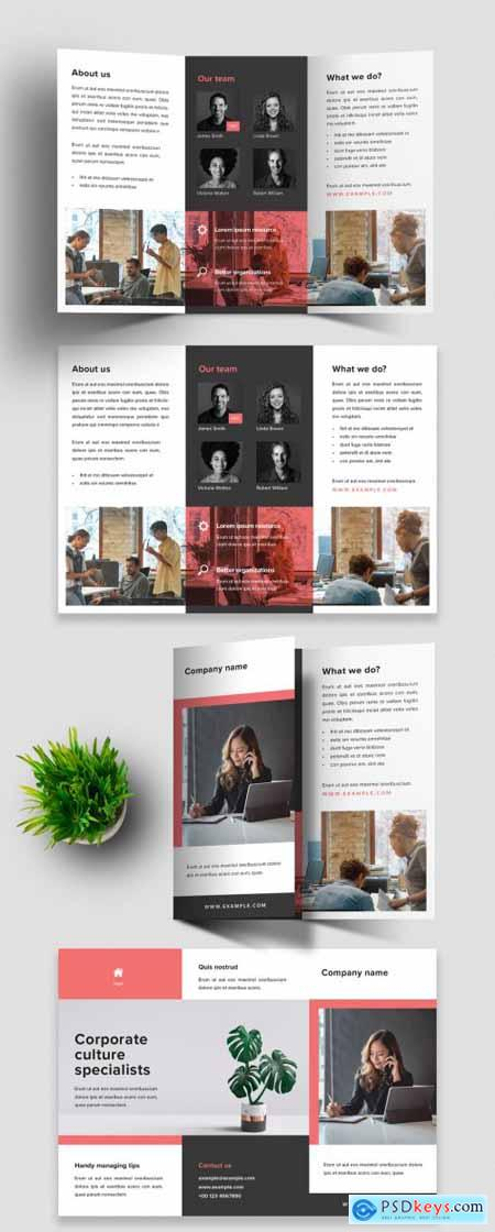 Business Trifold Design Layout 393185402