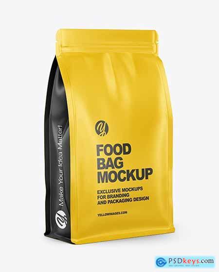 Matte Food Bag Mockup - Half Side View 70616