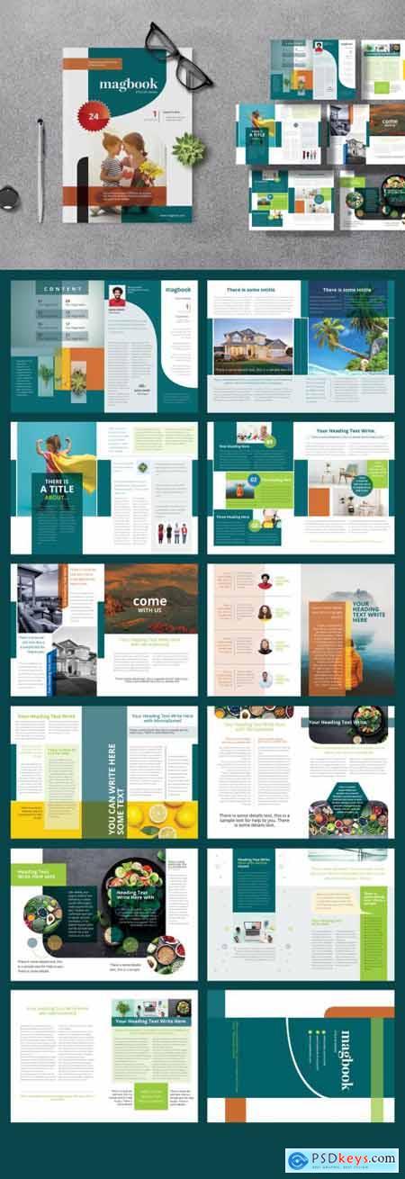 Colorful Magazine Layout 392967225