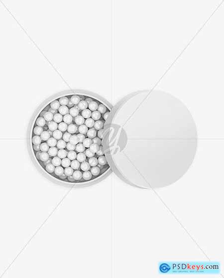 Powder Balls Mockup - Top View 70607
